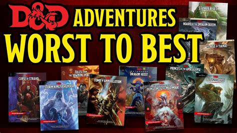 Ranking ALL the Dungeons and Dragons 5e Adventures Worst
