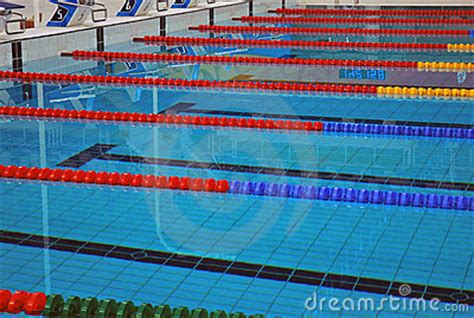 Lane Lines Of A Swimming Pool Royalty Free Stock