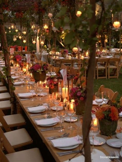 22 Outdoor Dinner Party Ideas   Fall wedding decorations