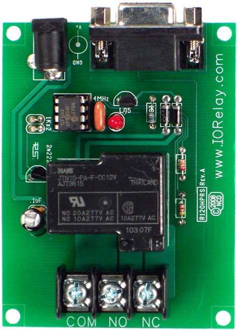RS-232 1-Channel High-Power Relay Controller with Serial