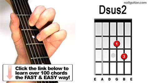 How to play Dsus2 - Suspended Guitar Chords Lesson - YouTube
