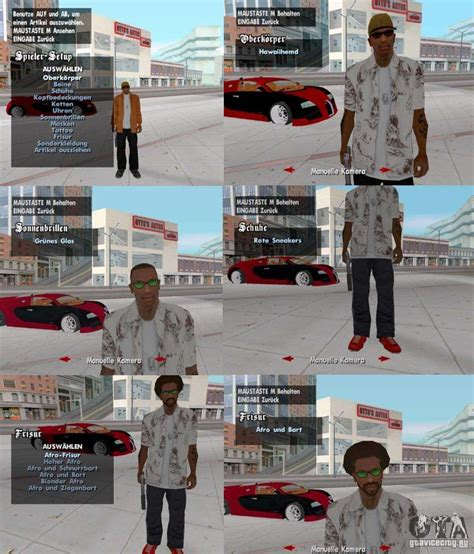 A change of clothes, tattoos and hairstyles for GTA San