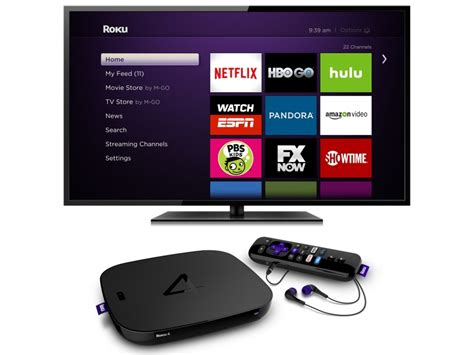 Roku 4 Streaming Player With 4K Support, Remote Finder