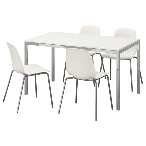 TORSBY / LEIFARNE Table and 4 chairs, high-gloss white