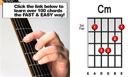 How to play C minor - Guitar Barre Chords - YouTube