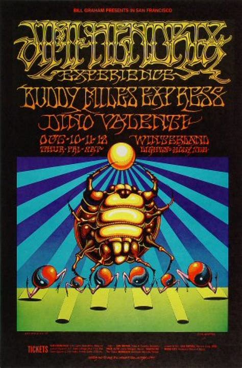 Jimi Hendrix Experience Vintage Concert Poster from
