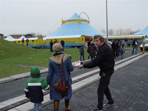 Protest tegen Circus Belly