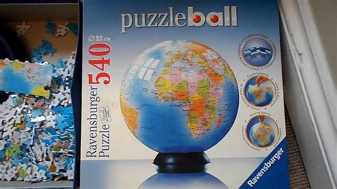 RAVENSBURGER 3D JIGSAW PUZZLE PUZZBALL OF THE WORLD THE
