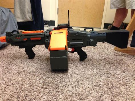 And here is a test firing video of the M60:   Nerf Mods