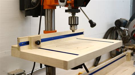 How to Build a Simple Drill Press Table - The Average