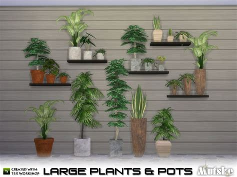 The Sims Resource: Large Plant and Pots by Mutske • Sims 4